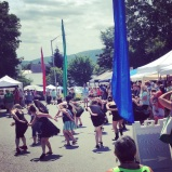 There was a Flash Mob at the Waterbury Arts Fest!