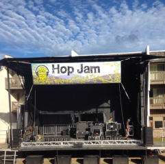 The stage at Hop Jam!