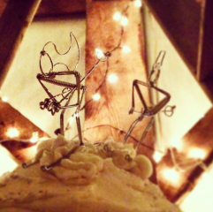 Emily & Matt's cake toppers were the best!